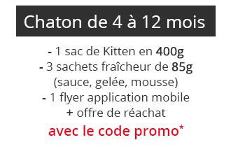 Coffret pour chaton de 4 à 12 mois