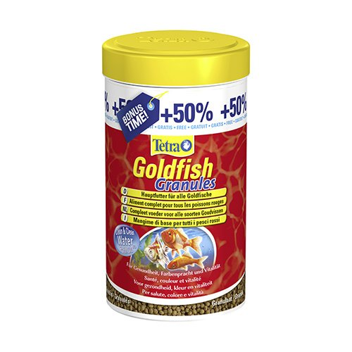 Goldfish granul s aliments pour poisson rouge et d 39 eau for Poisson tetra rouge