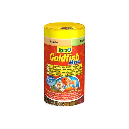 Goldfish menu aliments pour poisson rouge tetra wanimo for Aliment pour poisson