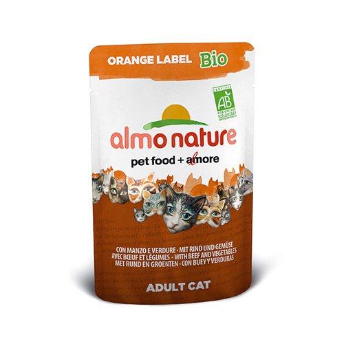 almo nature sachet fra cheur pour chat orange label adult cat bio lot 30 x 70g wanimo. Black Bedroom Furniture Sets. Home Design Ideas