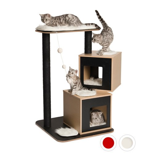 arbre chat vesper double arbre chat wanimo. Black Bedroom Furniture Sets. Home Design Ideas