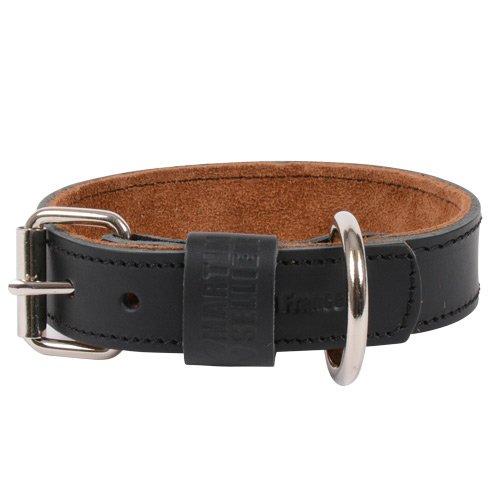 collier laisse et harnais collier cuir black tan pour chiens. Black Bedroom Furniture Sets. Home Design Ideas