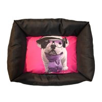 Couchage pour chien - Corbeille Domino Groovy