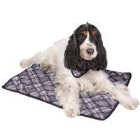 Couchage pour chien - Tapis rafraîchissant gris