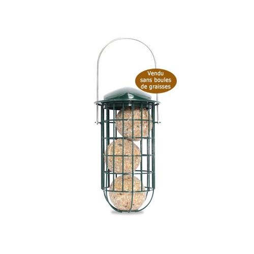 Distributeur boules de graisse distributeur de nourriture pour oiseaux des jardins hamiform - Porte boule de graisse pour oiseaux ...