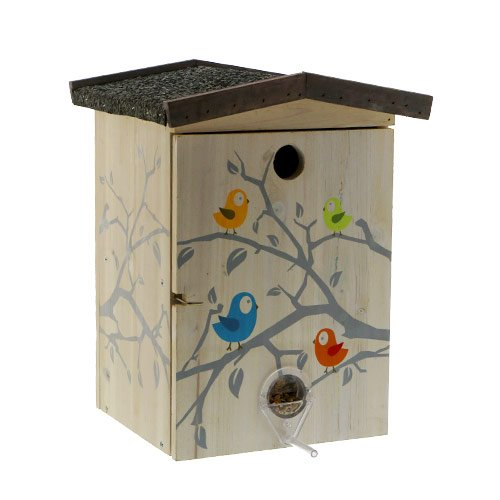 nichoir mangeoire funny nichoir mangeoire pour oiseaux des jardins karlie flamingo wanimo. Black Bedroom Furniture Sets. Home Design Ideas