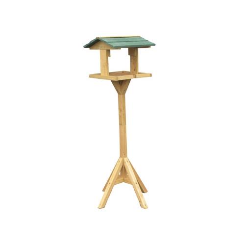 Mangeoire sur pied en pin mangeoire oiseaux des jardins - Nichoir oiseau sur pied ...