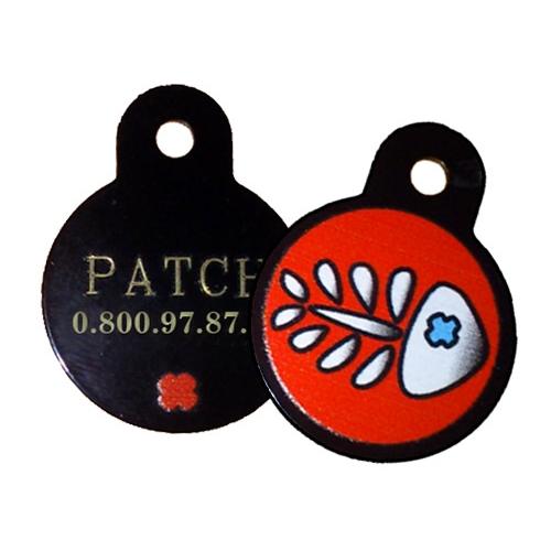 Fins de series pour chien - Médaille personnalisée Fishbone pour chiens