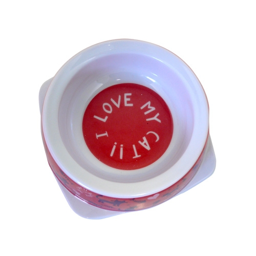Gamelle, distributeur & fontaine - Gamelle I love my cat pour chats