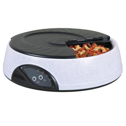 distributeur automatique de nourriture 4 repas accessoire repas pour chien et chat trixie. Black Bedroom Furniture Sets. Home Design Ideas