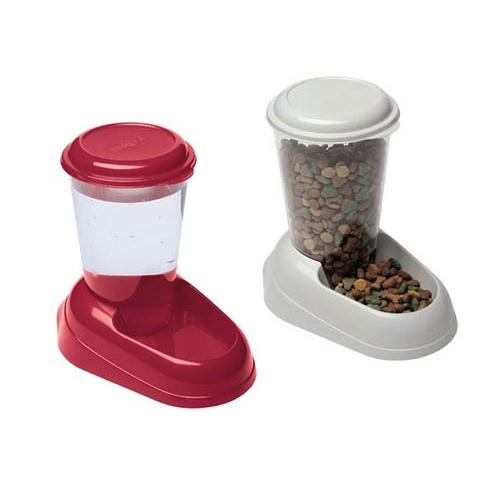 distributeurs de croquettes et d 39 eau 3l accessoire repas pour chien et chat ferplast wanimo. Black Bedroom Furniture Sets. Home Design Ideas