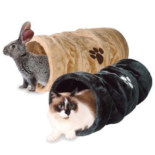 tunnel de jeu en fourrure synth tique tunnel de jeu pour chat rongeur et furet wanimo. Black Bedroom Furniture Sets. Home Design Ideas