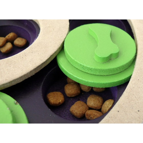 plateau slot 39 n 39 lever jouet ducatif pour chien iquties wanimo. Black Bedroom Furniture Sets. Home Design Ideas