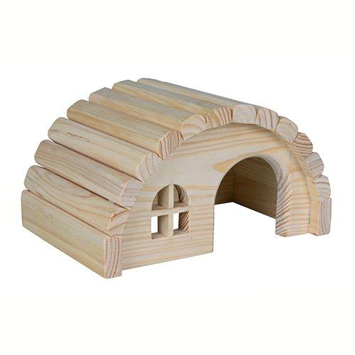 Maison hobbit en bois d me et maison pour rongeur for Maison dome en bois