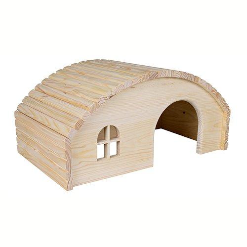 maison hobbit en bois d me et maison pour rongeur trixie wanimo. Black Bedroom Furniture Sets. Home Design Ideas