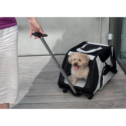 sac de transport roulettes sac de transport pour chien et chat trixie wanimo. Black Bedroom Furniture Sets. Home Design Ideas