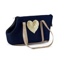 Transport du chien - Sac de transport Shiny Heart
