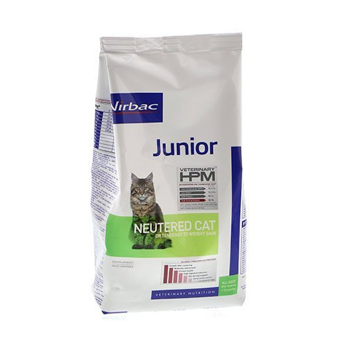 virbac veterinary hpm croquettes pour chat junior neutered cat wanimo. Black Bedroom Furniture Sets. Home Design Ideas