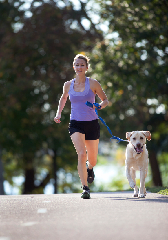 courir avec son chien